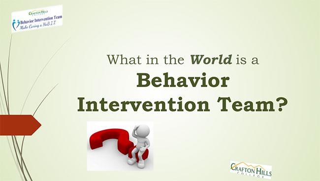 What in the World is a Behavior Intervention Team?