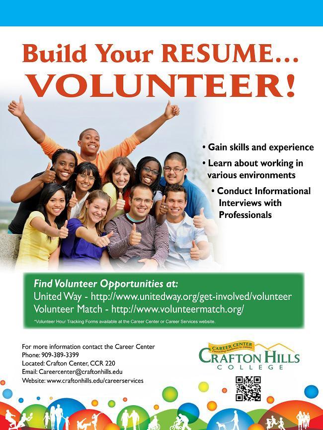 Internship And Volunteer Opportunities