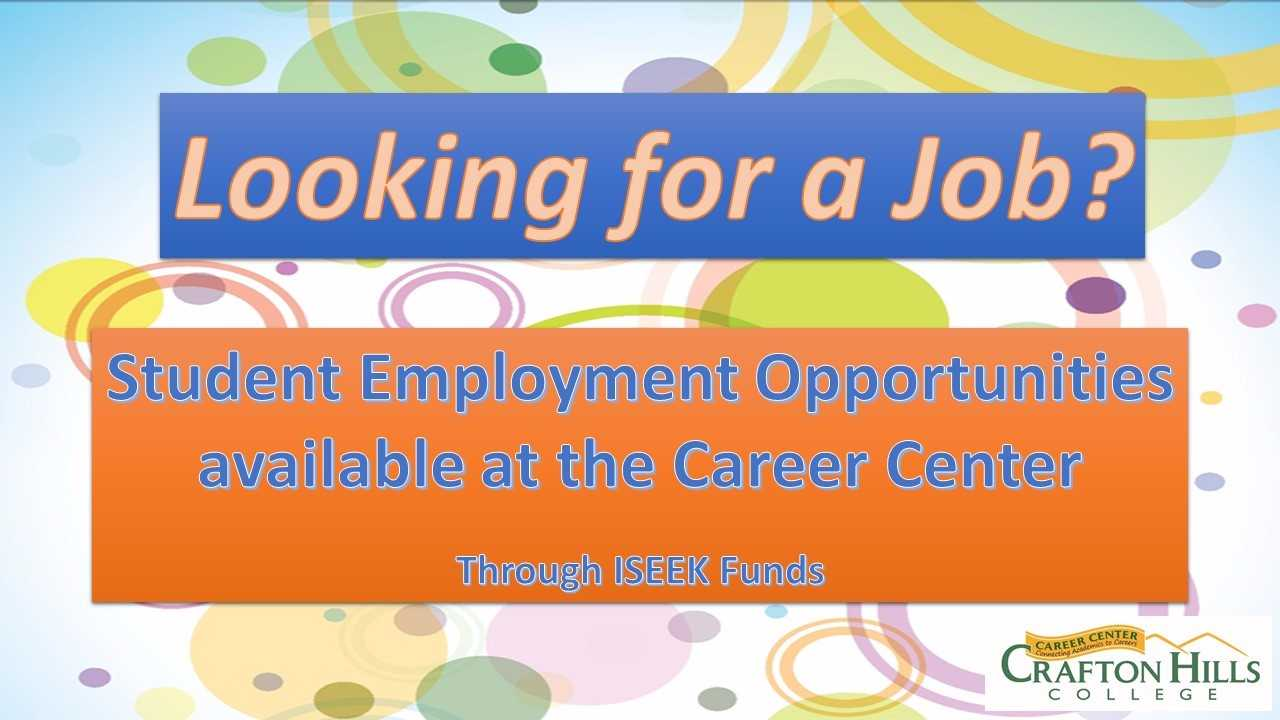 Chc Student Employment