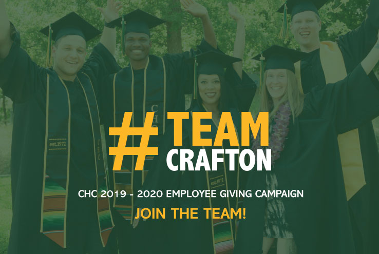 TeamCrafton 2019-2020 Employee Giving Campaign. Join the team!