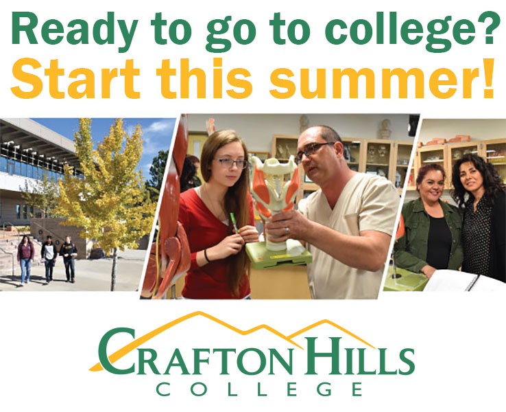 Ready to go to college? Start this summer! Crafton Hills College