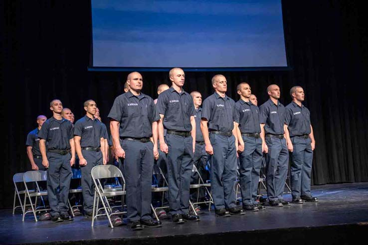 Students at Fire Academy graduation