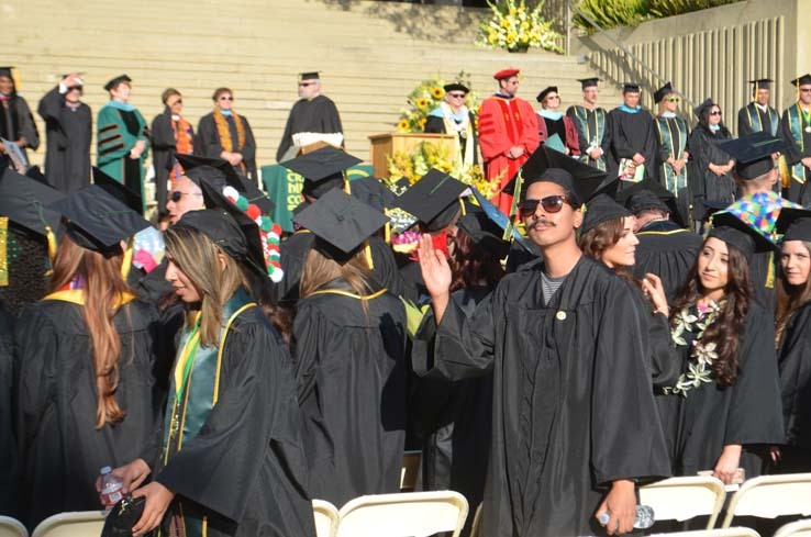 People celebrating commencement 2016