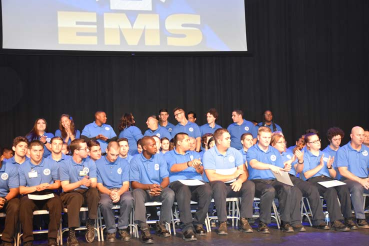 Faculty and students at EMT graduation