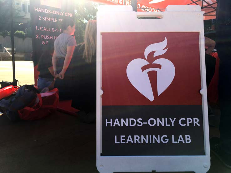 People practicing CPR
