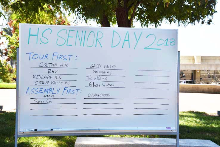 Students at Senior Day