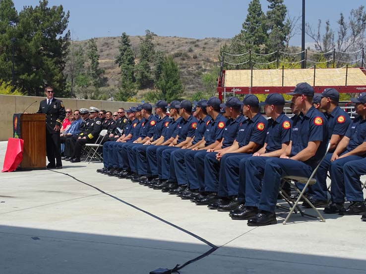 Students at the 88th Fire Academy Graduation