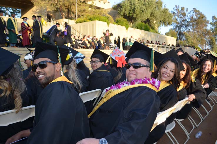 Students enjoying Commencement