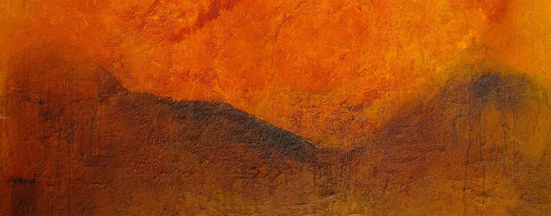 Orange and rust painting