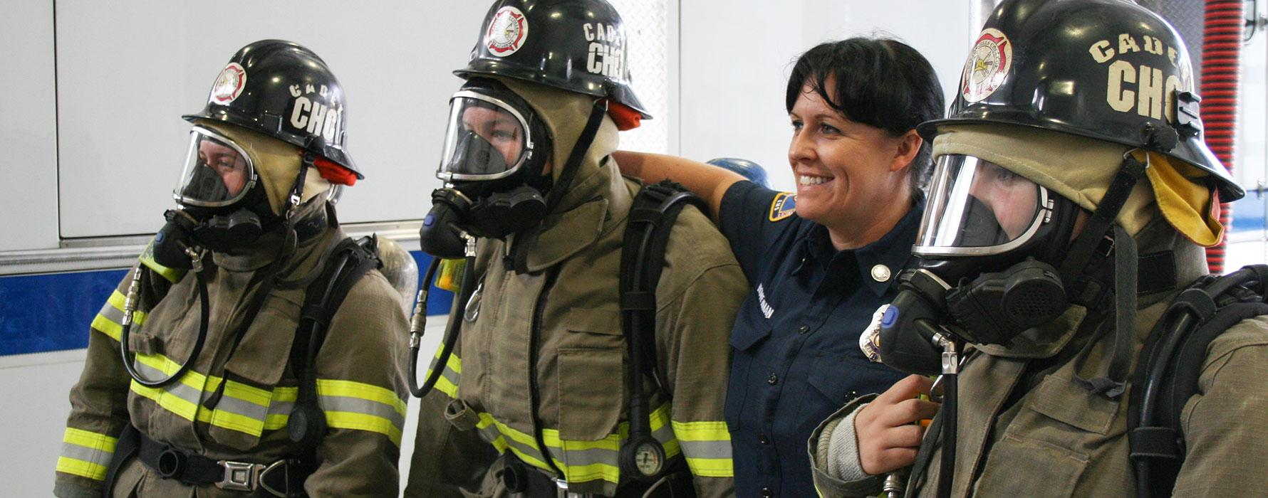Women in firefighting gear