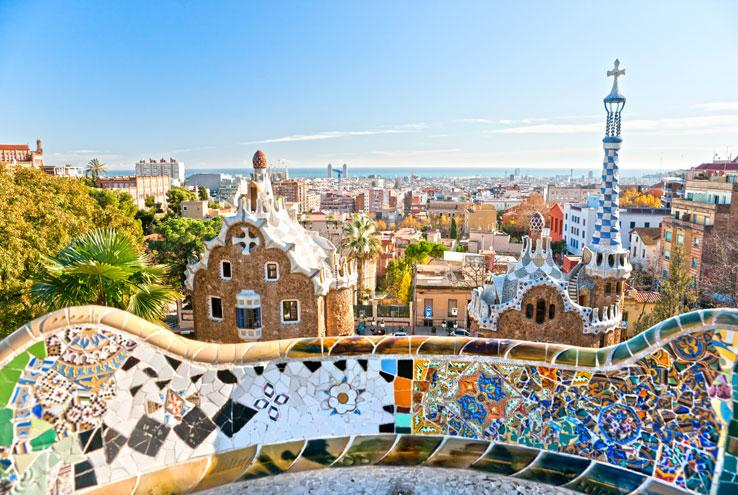 View of Barcelona with tilework