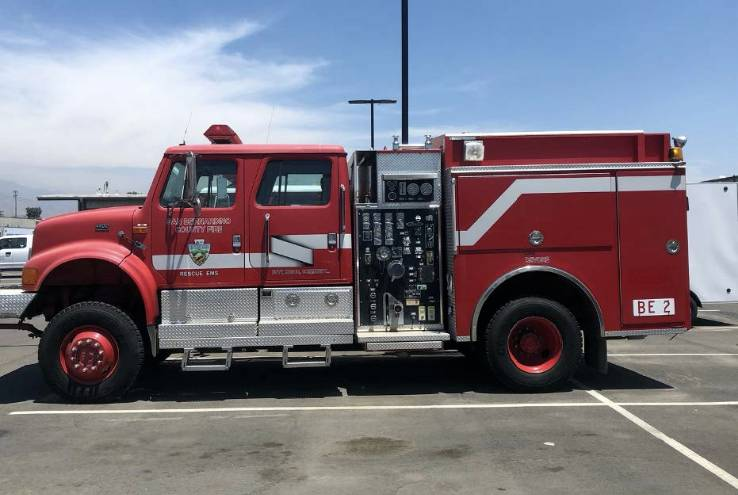Crafton Hills College Regional Fire Academy  Receives Donation of Fire Engine