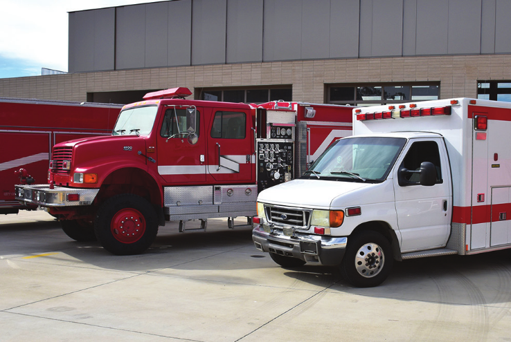 Crafton Hills College Receives Ambulance and Wildland Fire Engine from San Bernardino County Fire