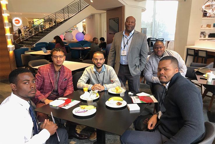 Men around a table