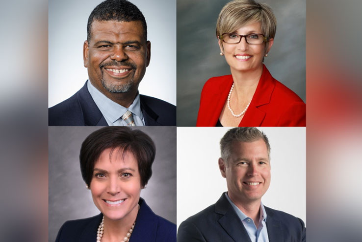 Dr. Eric Bishop (top left), Dr. Kimberlee Messina (top right),  Dr. Lisa B. Rhine (bottom left), and Dr. Kevin Horan (bottom right).