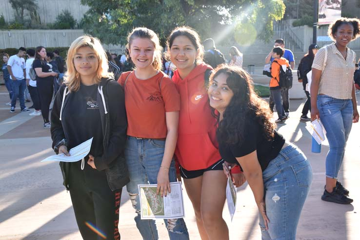 Students enjoying High School Visitation Day