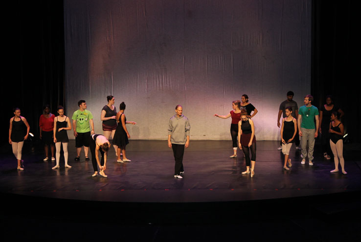 Students dancing on-stage