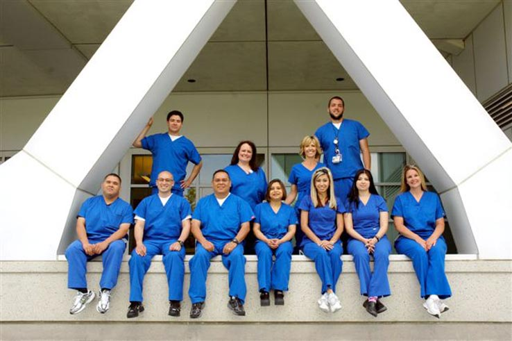 A group of students in the radiologic technology program