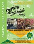 Cover of Spring 2009 Schedule of Classes