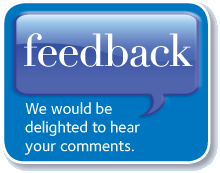 feedback:  We would be delighted to hear your comments.