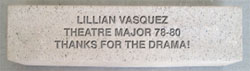 Lillian Vasquez, Theatre Major 78-80, Thanks for the Drama!